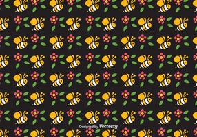 Free Cute Bee Vector Seamless Pattern