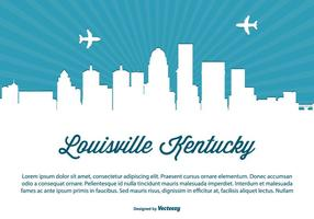 Louisville Kentucky Skyline Illustration