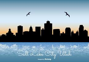 Vacker Salt Lake City Skyline Illustration