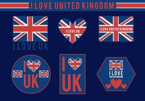 I Love UK Vectores