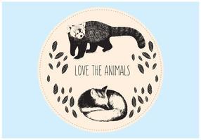 Ilustración de fondo de animales