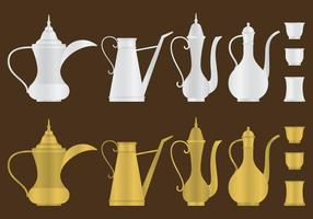 Arabic Coffee Pots vector
