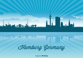 Hamburg skyline illustration