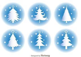 Vetores brancos da silhueta do natal