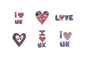 Free I Love UK Vector Series