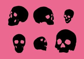 Vectores silueta del cráneo