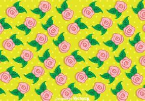 Fundo de flores e folhas de rosas