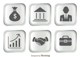 Silver Bank Icons vector