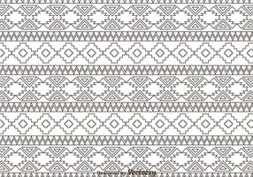 Outline Aztec Ornament Pattern vector