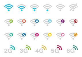 Vecteurs d'icônes Wi-Fi