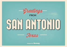 San Antonio Texas Greeting Illustration