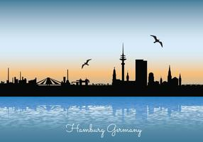 Hambourg Skyline Illustration