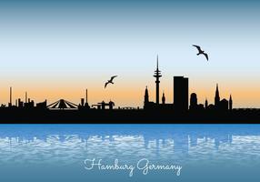 Ilustração do horizonte de Hamburgo
