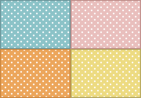 Baby Polka Dots Patterns Free Vector