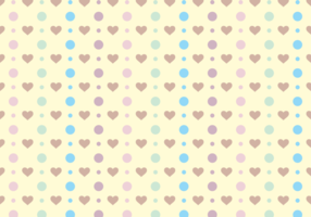 Polka Dots & Cute Hearts Gratis Vector