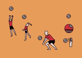 Illustrations vectorielles de volleyball
