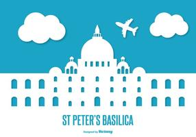 Plattform St Peter Basilika Illustration
