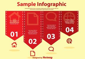 Red Simple Infography Vectors