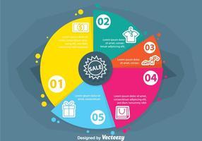 Gráfica de productos Vectores de Infografía