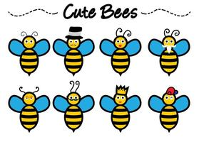 Cute Bee vectores
