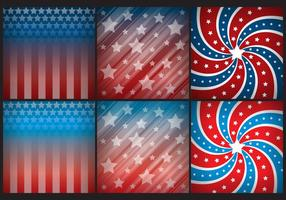 American Stars Background Vectors