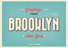 Brooklyn new york hälsning illustration