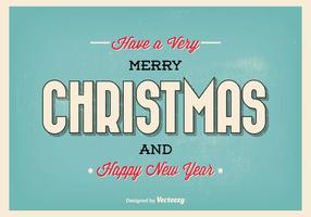Typographic Christmas Greeting Illustration