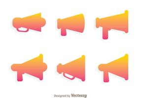 Gradation Silhouette Megaphone Icon Vectors