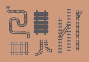 Eisenbahn Vektor Set