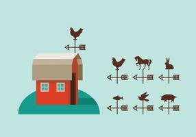 Weather Vane Vector Set