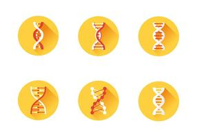 Dna icon set