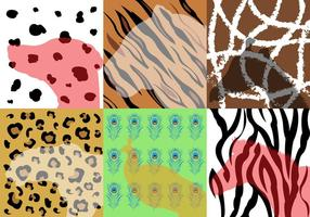 Coleção de vetores de várias estampas de animais