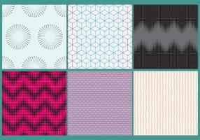 Dots And Circles Patterns vector