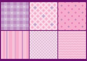 Cute And Girly Patterns vector