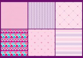 Girly Heart Patterns vector