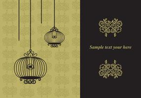 Elegant Vintage Design with Bird Cages vector