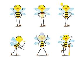 Happy Bee Vectors