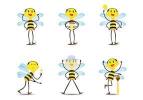 Vetores Happy Bee