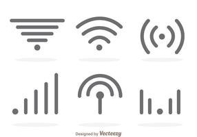 Enkel Wifi Grey Logo Vektorer