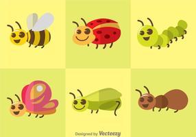 Nette Vektor Insekten