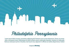 Philadelphia Skyline Illustratie