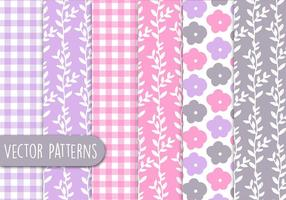 Floral Romantic Pattern Set vector