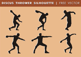 Discus Thrower siluetas vector libre