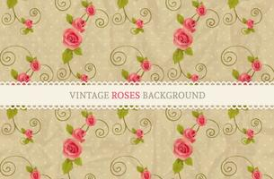 Free Vector Vintage Roses Background