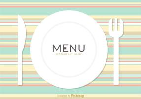 Carte de menu de restaurant gratuit Vector Design