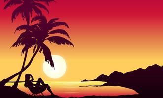 Fundo havaiano do vetor gratuito