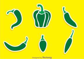 Vectores de la pimienta verde
