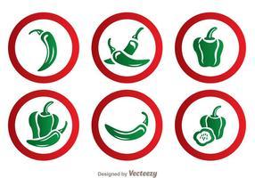 Groene Peper Vectoren