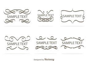 Swirly vectores de la frontera del texto