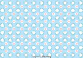 Blå cirkel Girly Pattern Vector